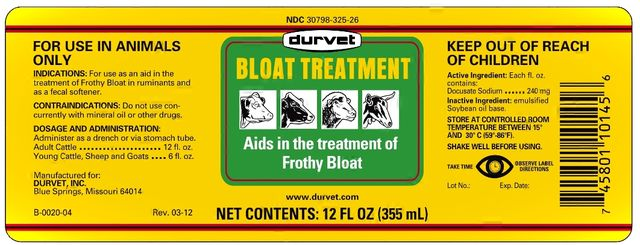 BLOAT TREATMENT Aids in the treatment of Frothy Bloat
