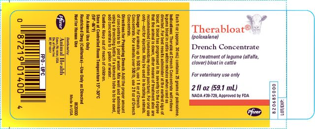 Therabloat  ®  (poloxalene) Drench Concentrate