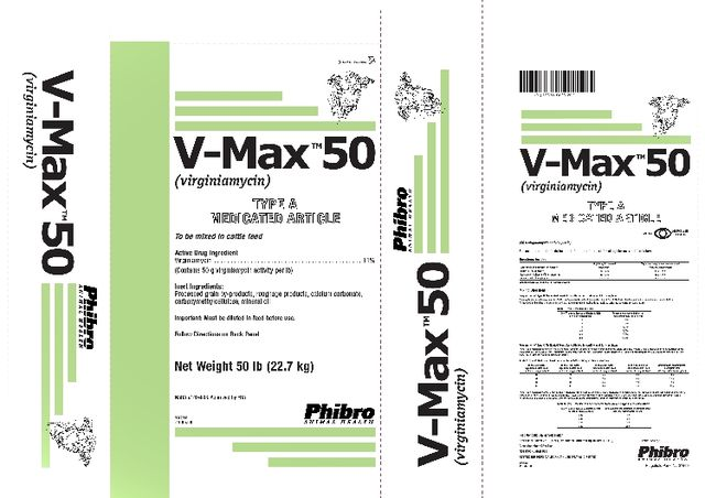 V-Max  TM  50(Virginiamycin)TYPE A MEDICATED ARTICLE