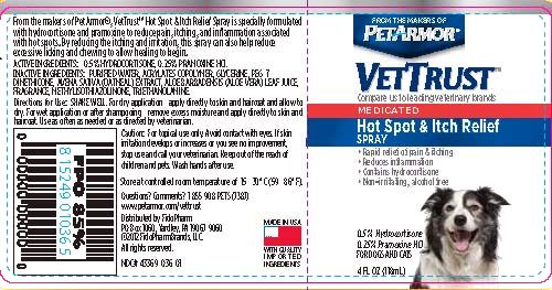VETTRUST MEDICATED HOT SPOT AND ITCH RELIEF SPRAY